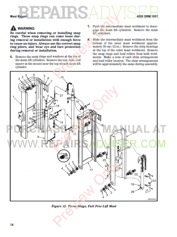 Hyster Class 1 For A219 Electric Motor Rider Trucks PDF Manual, Manuals for Trucks by www.repairsadviser.com