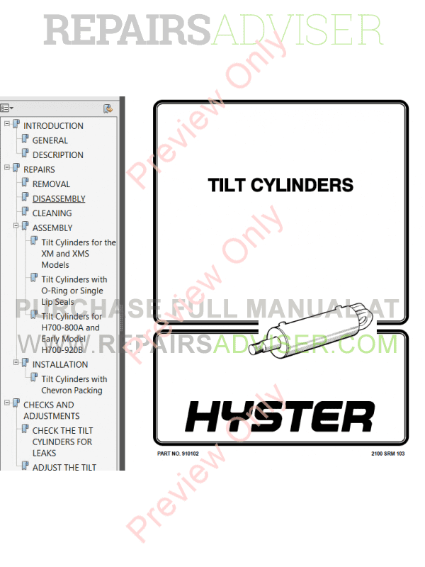 Hyster Class 1 For B114 Europe Electric Motor Rider Trucks PDF Manual, Manuals for Trucks by www.repairsadviser.com