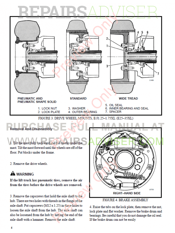 Hyster Class 1 For B168 Electric Motor Rider Trucks PDF Manual, Manuals for Trucks by www.repairsadviser.com