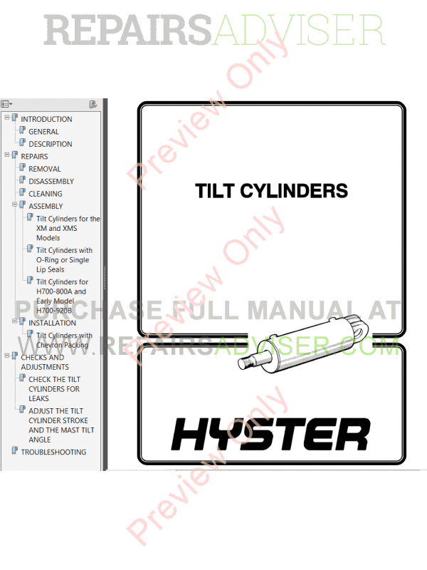 Hyster Class 1 For B168 Europe Electric Motor Rider Trucks PDF Manual, Manuals for Trucks by www.repairsadviser.com