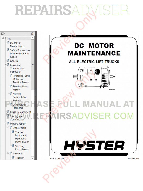 hyster class 1 for b416 electric motor rider trucks pdf download
