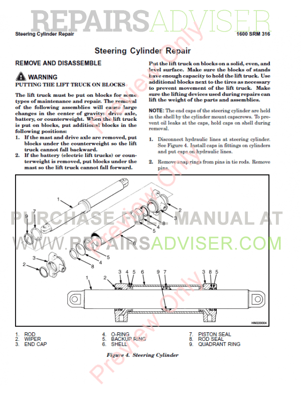 Hyster Class 1 For B416 Europe Electric Motor Rider Trucks PDF, Manuals for Trucks by www.repairsadviser.com