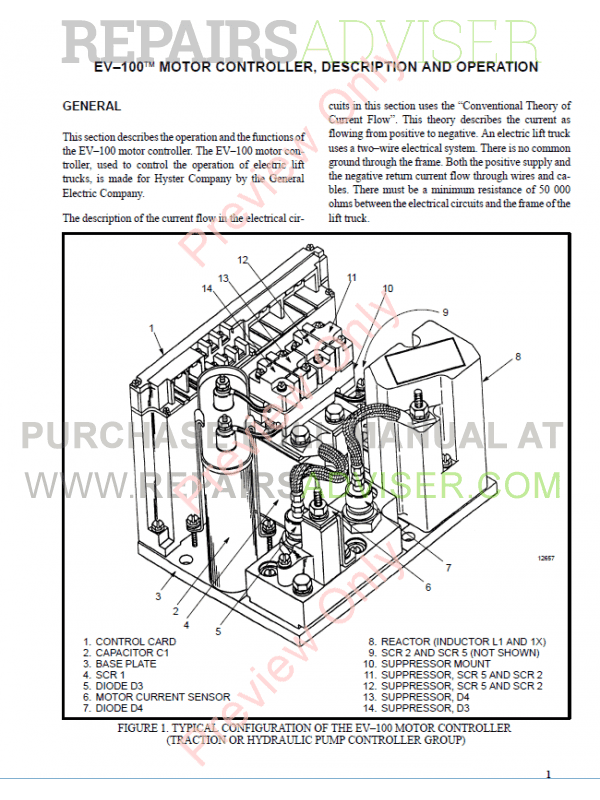 Hyster Class 1 For C098 Pre-SEM Electric Motor Rider Trucks PDF, Manuals for Trucks by www.repairsadviser.com