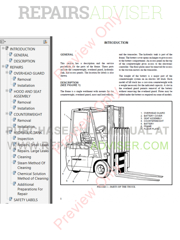 Hyster Class 1 For C160 Electric Motor Rider Trucks Pdf