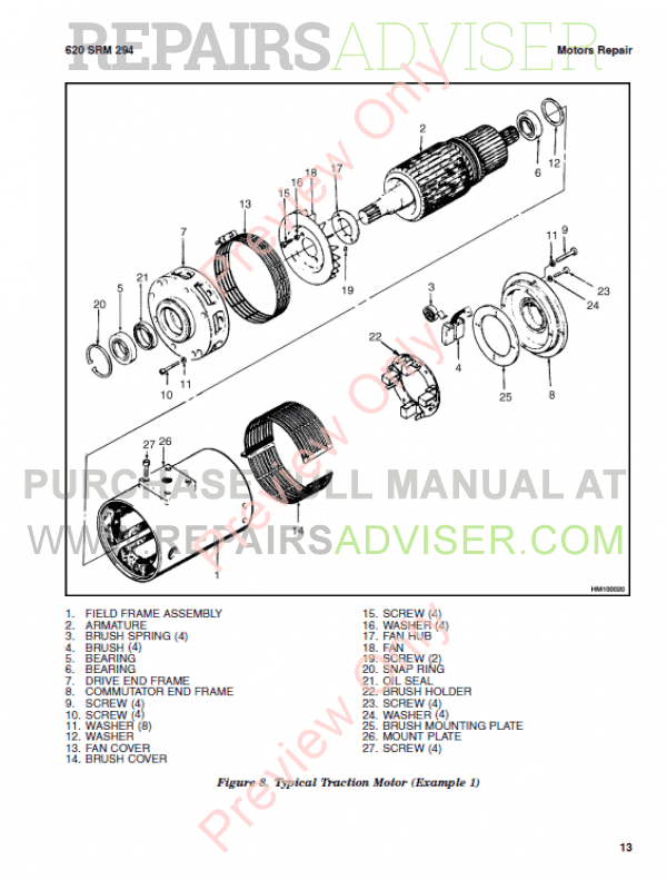 Hyster Class 1 For C160 Electric Motor Rider Trucks PDF Manual, Manuals for Trucks by www.repairsadviser.com