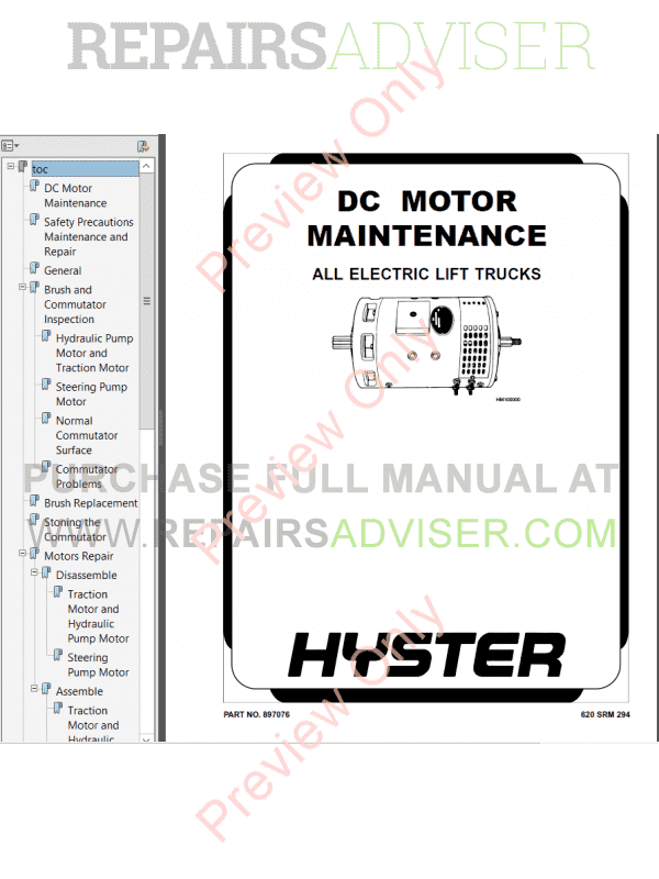 Hyster Class 1 For G108 Electric Motor Rider Trucks PDF Manual image #1