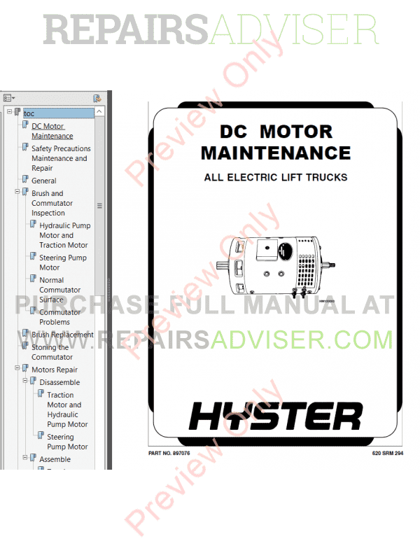 Hyster Class 2 For B210 Electric Motor Narrow Aisle Trucks PDF Manual, Manuals for Trucks by www.repairsadviser.com