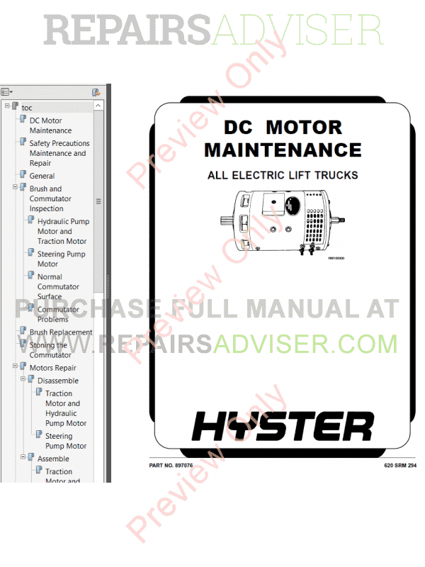 Hyster Class 2 For B264 Electric Motor Narrow Aisle Trucks PDF Manual image #1