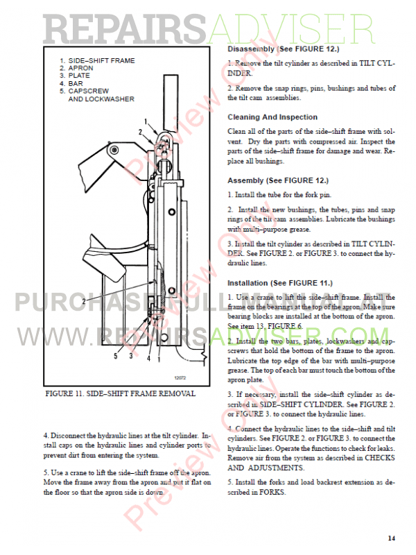 Hyster Class 2 For C138 Electric Motor Narrow Aisle Trucks PDF Manual, Manuals for Trucks by www.repairsadviser.com