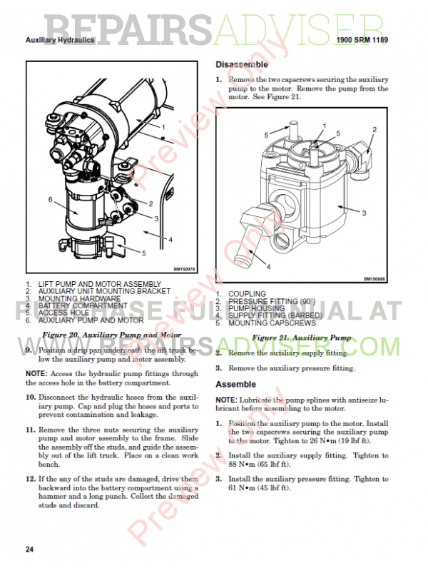 Hyster Class 2 For C264 Electric Motor Narrow Aisle Trucks PDF Manual, Manuals for Trucks by www.repairsadviser.com