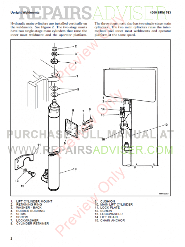 Hyster Class 2 For D174 Electric Motor Narrow Aisle Trucks PDF Manual, Manuals for Trucks by www.repairsadviser.com