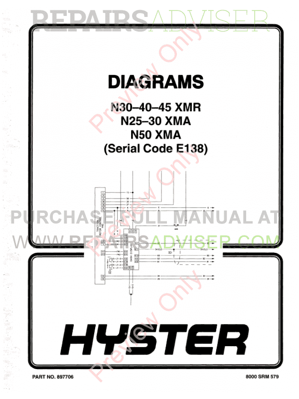 Hyster Class 2 For E138 Electric Motor Narrow Aisle Trucks PDF Manual, Manuals for Trucks by www.repairsadviser.com