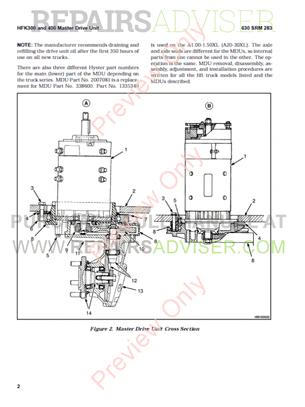 Hyster Class 2 For G118 Electric Motor Narrow Aisle Trucks PDF Manual, Manuals for Trucks by www.repairsadviser.com
