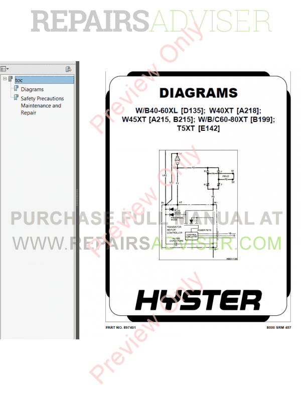 Hyster Class 3 For A218 Electric Motor Hand Trucks PDF Manual, Manuals for Trucks by www.repairsadviser.com