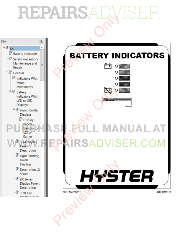 Hyster Class 3 For A230 Electric Motor Hand Trucks PDF Manual image #1