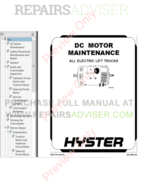 Hyster Class 3 For A231 Electric Motor Hand Trucks PDF Manual image #1