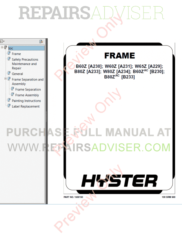 hyster class 3 for a234 electric motor hand trucks pdf