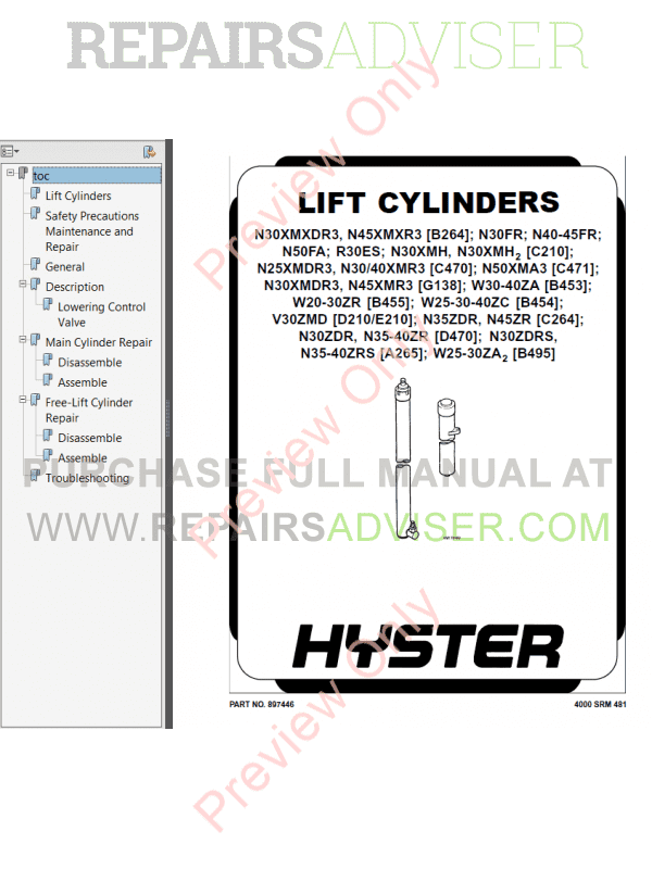 Hyster Class 3 For A453 Electric Motor Hand Trucks PDF Manual, Manuals for Trucks by www.repairsadviser.com