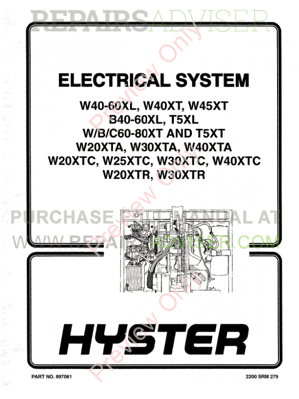 Hyster Class 3 For A454 Electric Motor Hand Trucks PDF Manual image #1