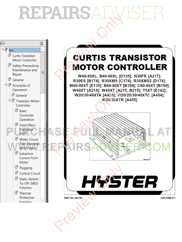 Hyster Class 3 For B199 Electric Motor Hand Trucks PDF Manual image #1
