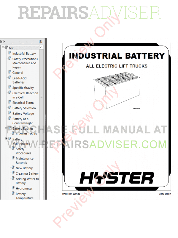 Hyster Class 3 For B230 Electric Motor Hand Trucks PDF Manual, Manuals for Trucks by www.repairsadviser.com