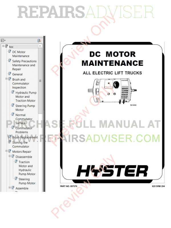 Hyster Class 3 For B453 Electric Motor Hand Trucks PDF Manual image #1