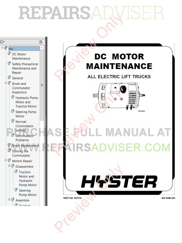Hyster Class 3 For B495 Electric Motor Hand Trucks PDF Manual, Manuals for Trucks by www.repairsadviser.com