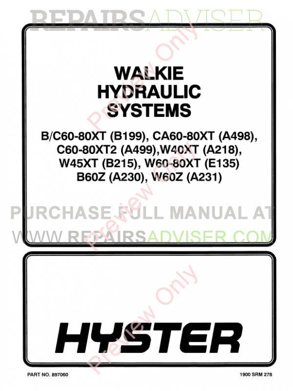 Hyster Class 3 For E135 Electric Motor Hand Trucks PDF Manual image #1