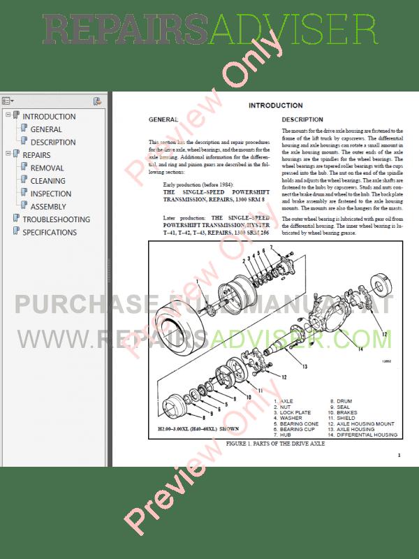 hyster class 4 a187 internal combustion engine trucks pdf