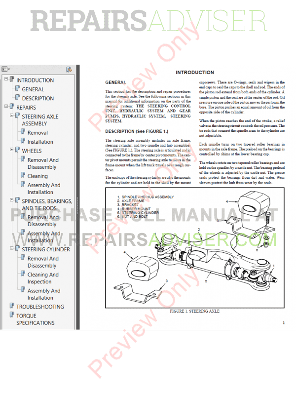 Hyster Class 4 For B187 Internal Combustion Engine Trucks PDF Manual, Manuals for Trucks by www.repairsadviser.com