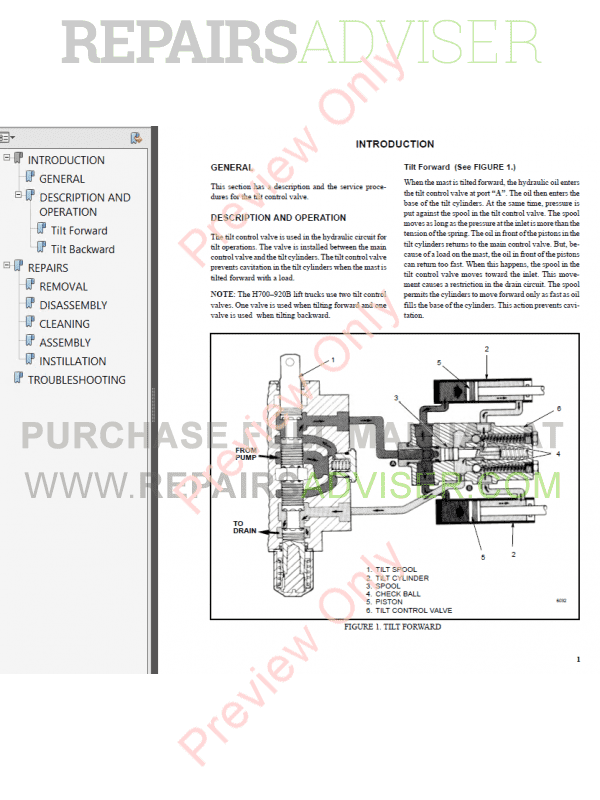 Hyster Class 4 For C002 Europe Internal Combustion Engine Trucks PDF Manual, Manuals for Trucks by www.repairsadviser.com