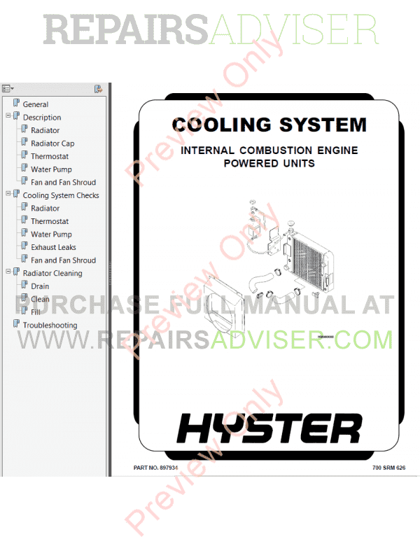 Hyster Class 4 For D002 Americas Internal Combustion Engine Trucks PDF Manual, Manuals for Trucks by www.repairsadviser.com