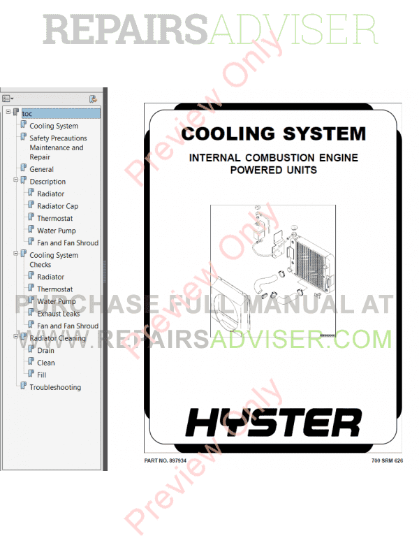 Hyster Class 5 For A214 Internal Combustion Engine Trucks PDF Manual, Manuals for Trucks by www.repairsadviser.com