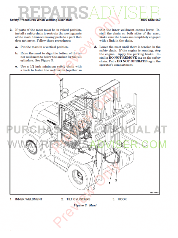 Hyster Class 5 For A236 Europe Internal Combustion Engine Trucks PDF Manual, Manuals for Trucks by www.repairsadviser.com