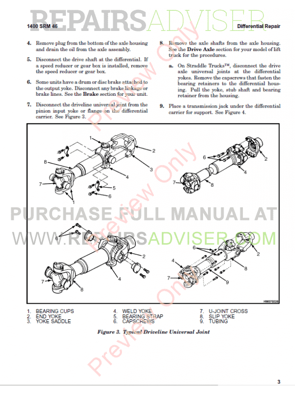 Hyster Class 5 For A917 (H40.00XM-12, H44.00XM-12, H48.00XM-12 Europe) Trucks PDF, Manuals for Trucks by www.repairsadviser.com