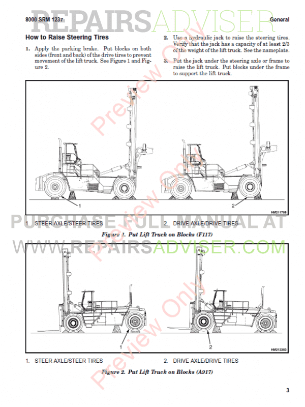 Hyster Class 5 For A917 Internal Combustion Engine Trucks PDF Manual, Manuals for Trucks by www.repairsadviser.com