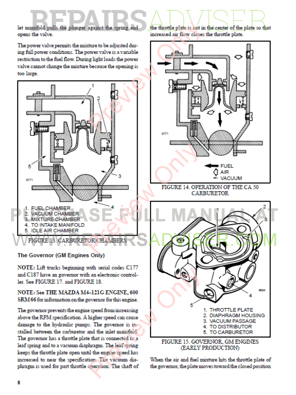 Hyster Class 5 For B177 Internal Combustion Engine Trucks PDF Manual, Manuals for Trucks by www.repairsadviser.com