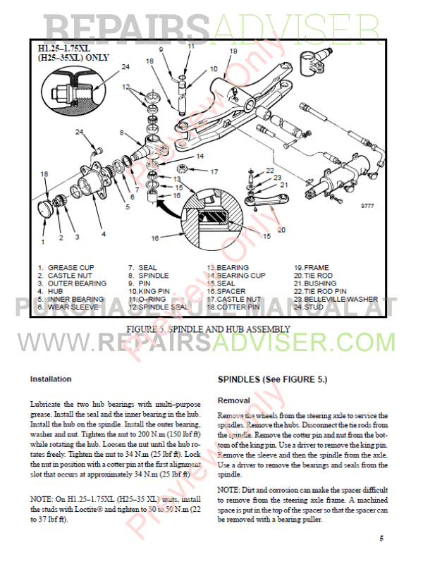 Hyster Class 5 For B177 Europe Internal Combustion Engine Trucks PDF Manual, Manuals for Trucks by www.repairsadviser.com