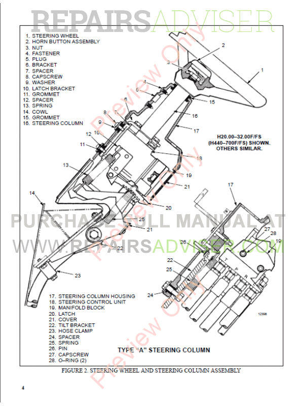 Hyster Class 5 For C007 Europe Internal Combustion Engine Trucks PDF Manual, Manuals for Trucks by www.repairsadviser.com