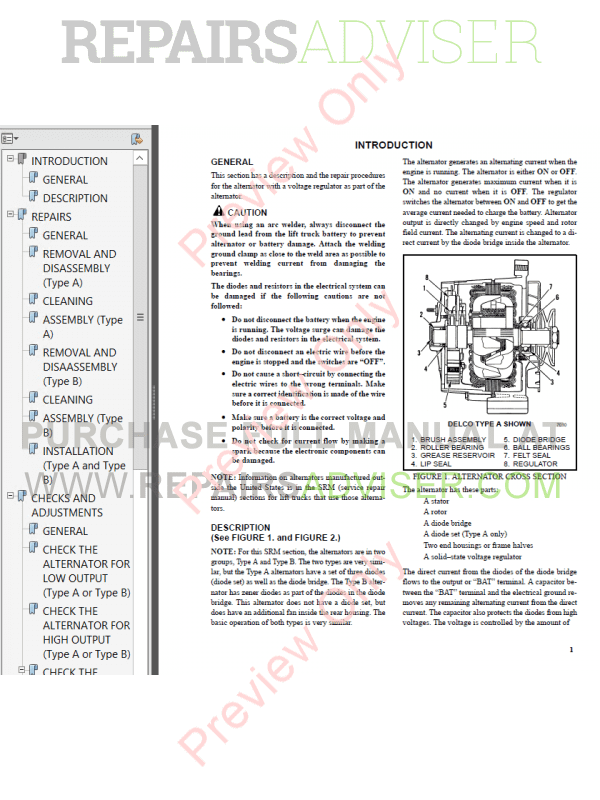 Hyster Class 5 For F003 Europe Internal Combustion Engine Trucks PDF Manual image #1