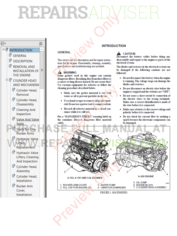 Hyster Class 5 For F003 Internal Combustion Engine Trucks PDF Manual, Manuals for Trucks by www.repairsadviser.com