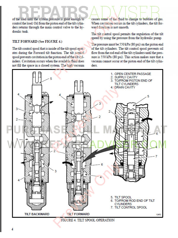 Hyster Class 5 For F005 Internal Combustion Engine Trucks PDF Manual, Manuals for Trucks by www.repairsadviser.com