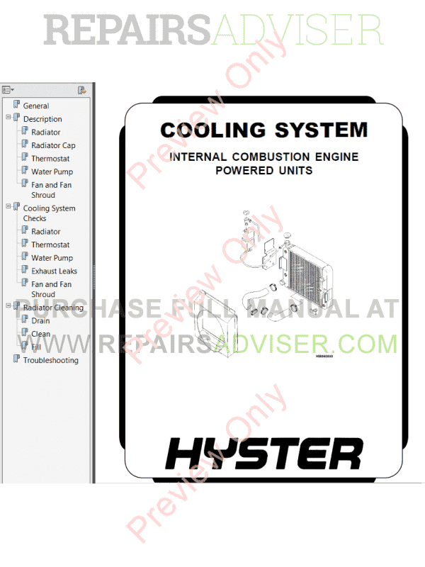 Hyster Class 5 For F006 Europe Internal Combustion Engine Trucks PDF Manual, Manuals for Trucks by www.repairsadviser.com