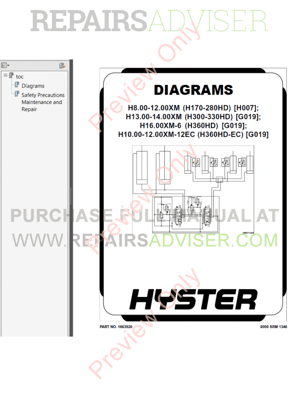 Hyster Class 5 For G019 Europe Internal Combustion Engine Trucks PDF Manual, Manuals for Trucks by www.repairsadviser.com