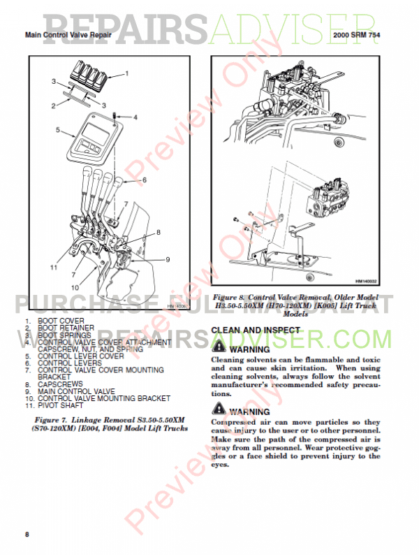 Hyster Class 5 For L005 Europe Internal Combustion Engine Trucks PDF Manual, Manuals for Trucks by www.repairsadviser.com