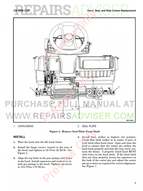Hyster Class 5 For L177 Internal Combustion Engine Trucks PDF Manual, Manuals for Trucks by www.repairsadviser.com