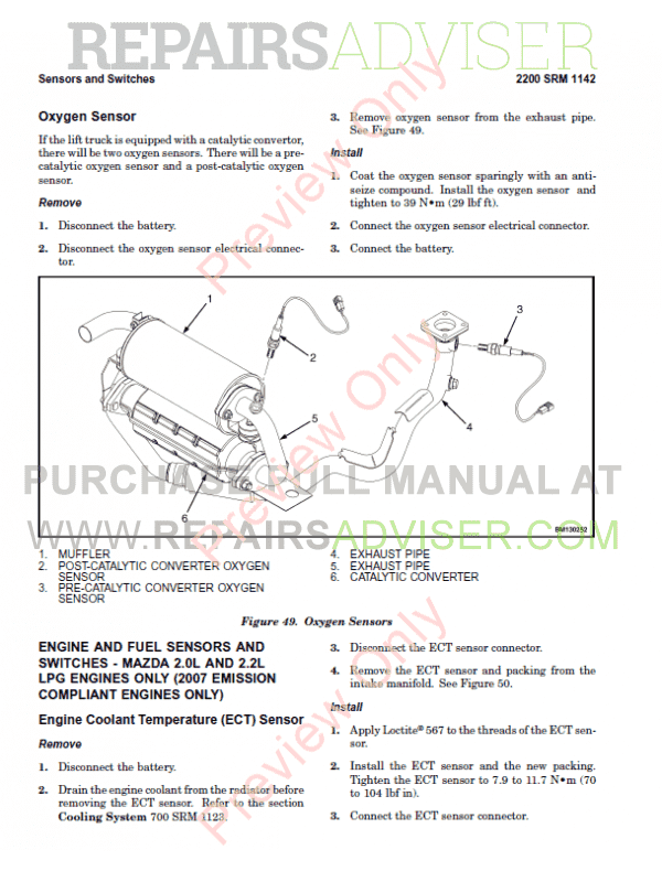 Hyster Class 5 For N005 Europe Internal Combustion Engine Trucks PDF Manual, Manuals for Trucks by www.repairsadviser.com
