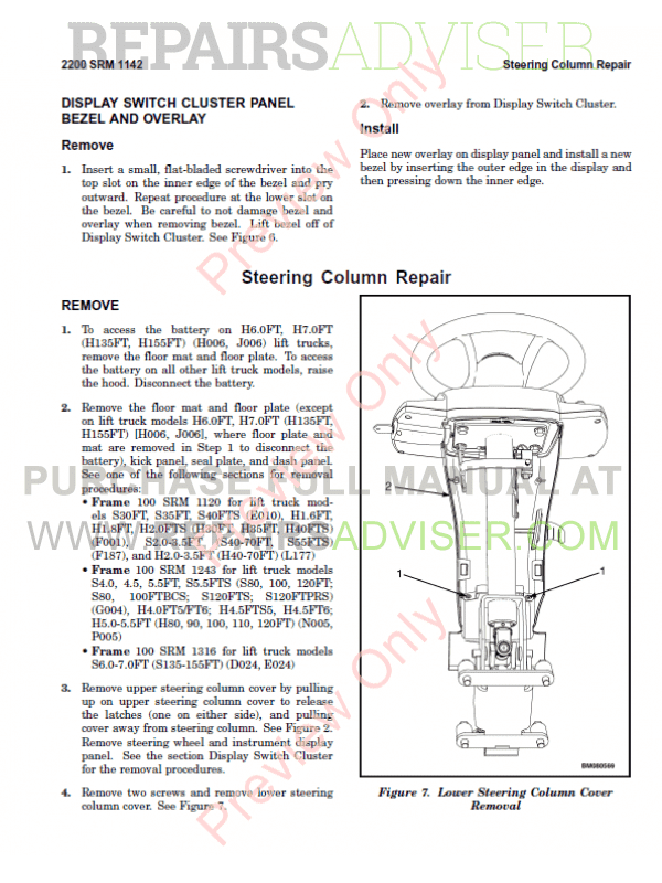 Hyster Class 5 For P005 Europe Internal Combustion Engine Trucks PDF Manual, Manuals for Trucks by www.repairsadviser.com