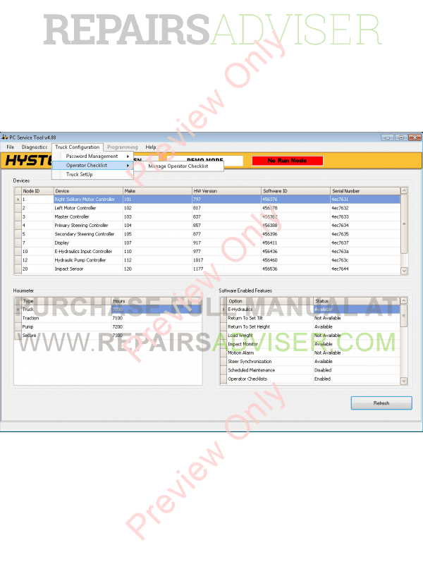 Hyster PC Service Tool v4 88 plus Instruction 2016