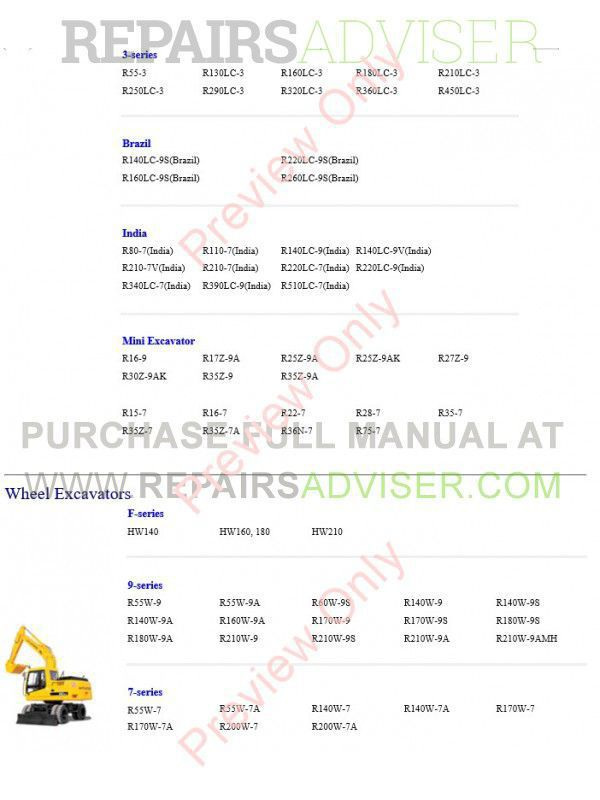 Hyundai Heavy Equipment Service Manuals 2017 Full Set Offline,  by www.repairsadviser.com